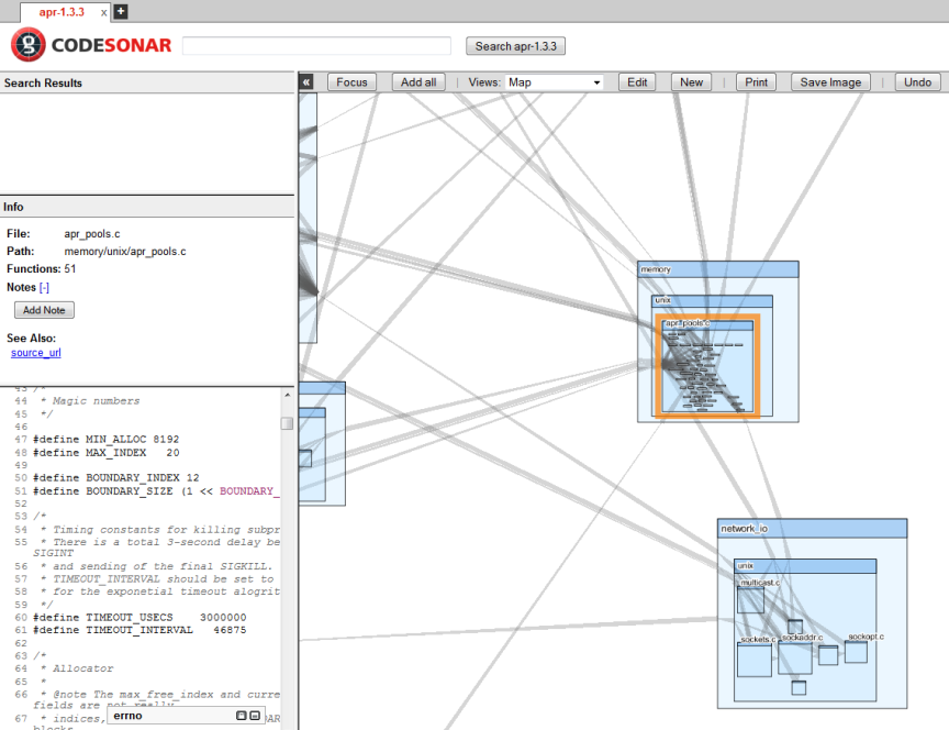 GrammaTech CodeSonar Architecture Visualization