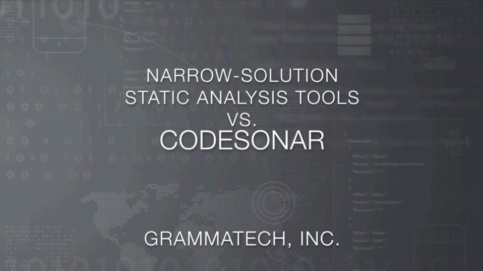 Narrow-Solution Static Analysis Tools vs. CodeSonar