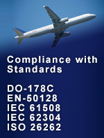 Compliance with DO-178C, EN 61508, EN 62304, ISO 26262