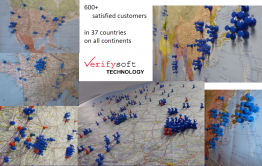 Verifysoft 600 Customers in 37 Countries