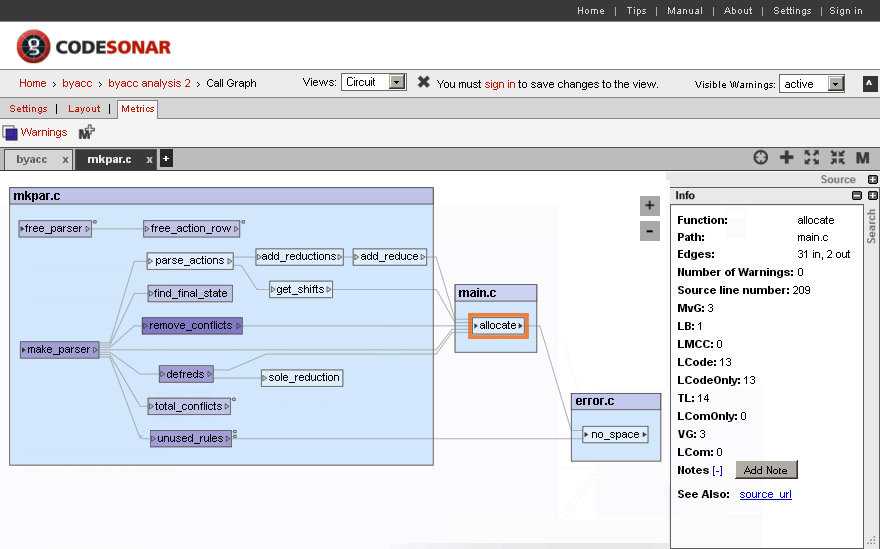 GrammaTech Static Code Analysis Screenshot 03